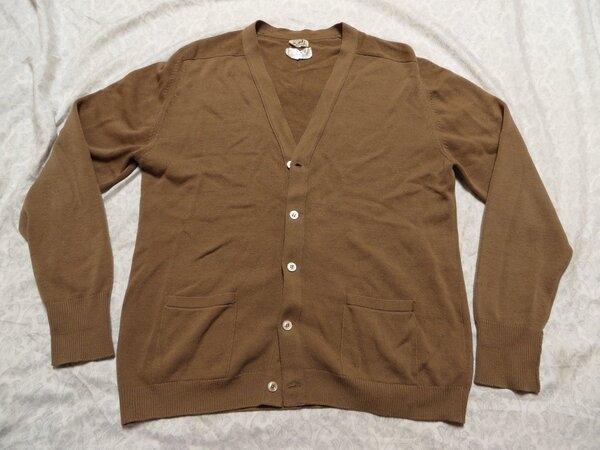 Hermes made-in Scotland tan cardigan 2.jpg