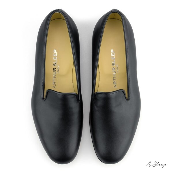Mens-Matt-Black-Calf-Leather-Slippers-Shoes-Handmade-in-England-by-Arthur-Sleep-Top.jpg