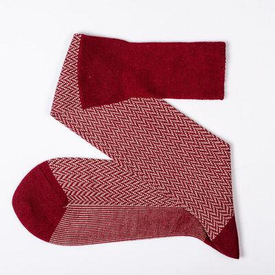Viccel red herringbone socks 1.jpg