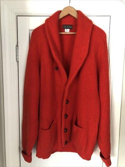 Sulka 4 ply shawl cardigan - orange 1.jpg