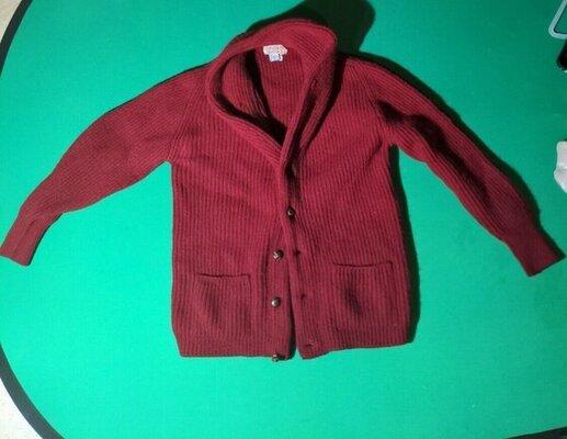 Mc George red shawl cardigan.jpg